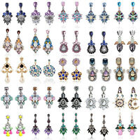 1 Pair Elegant Women Crystal Rhinestone Ear Stud Drop Dangle  Fashion Earrings