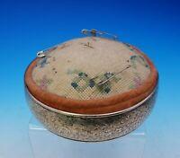 Gorham Sterling SIlver Pin Cushion Round Large BC Floral Motif #B276 (#3569)