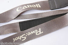 "Canon PowerShot 7/8"" Grey Camera Strap with 3/8"" Loop - Nylon - USED C176"