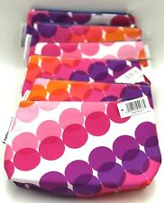 Lot of 6:  Kapitza by Clinique Cosmetic Makeup Bag Zipper Pouch  Fall 18 ~ Pink