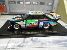 FORD Escort MKII RS Gr.5 Zakspeed DRM 1980 Boller Kümmerling 1/300 Spark 1:43