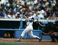 Steve Yeager Signed Autographed 8X10 Photo LA Dodgers Home Post Swing Blue Ink