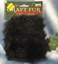 "New Nicole International Craft Faux Fur: Shimmery Black. 2"" X 30"". Clean. #848"