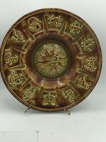 Vintage 80s  Astrology Decorative Plate Zodiac Sign Decor Accents Ceramic B