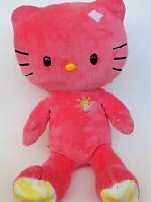 "Hello Kitty  Build A Bear Sun Shine Coral 18"" Retired Limited Edition Cat Sanrio"