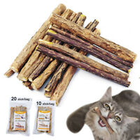 10/20pcs Silvervine Natural Cat Chew Stick Catnip Cat Kitten Snack Cleaning Toys