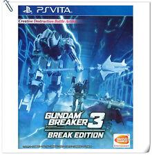 PSV Gundam Breaker 3 Break Edition ENG / 中文版 SONY VITA Bandai Namco Game Action