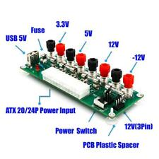 20/24 Pins ATX Benchtop PC Power Supply Breakout Module Adapter with USB 5V Port