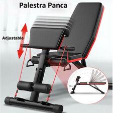Macchina Palestra Panca Pesi Multifunzionale Regolabile Allenamento Fitness Nero