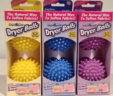 Dryer Max Dryer Balls Natural Way to Soften Fabrics Set of 2 Assorted colors