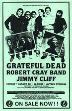 SCARCE Grateful Dead Robert Cray Jimmy Cliff Handbill Autzen Stadium Eugene OR