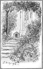 LÉON BERVILLE 2 DESSINS ORIGINAUX 1903 VAUCRESSON chez P.C. Hauts-de-Seine