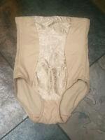 0520 Flexees 6/Med Nude Zebra Ultra Firm High Waist Shaping Brief #83061 NWOT B