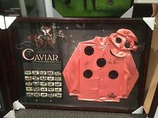 LIMITED EDT. FRAMED BLACK CAVIAR SILKS SIGNED  BY LUKE NOLEN & PETER MOODY