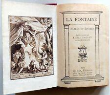 LA FONTAINE FABLES ET EPITRES EMILE FAUGET EDITION LUTETIA NELSON EDITEURS 19??