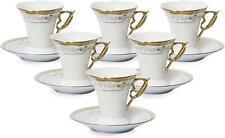 Royalty Porcelain 12-pc Gold Espresso Coffee Set, Bone China