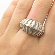 Vtg 925 Sterling Silver Large Ring Size 8.5
