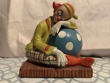 Toscany Collection (Japan) Ceramic Sleeping Clown On Ball