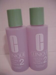 2 Clinique Clarifying Lotion 2 ...2 FL OZ each  Dry Combination Skin