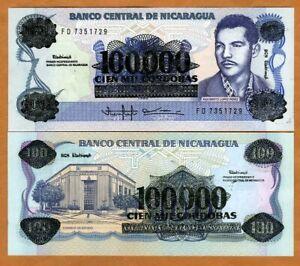 Nicaragua, 100,000 on 100 Cordobas, ND (1989), P-159, UNC