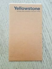 1970 OFFICIAL USDOI Yellowstone National Park Wyoming Map Trails Brochure WY MT