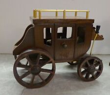 """Wooden Stagecoach Music Box 1981 George Good """"Do You Know The Way to San Jose"""""""