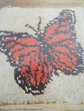 Nip Rare Oop 1976 Monarch Butterfly Latch Hook Canvas Columbia Minerva