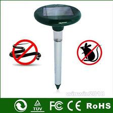 2PCS Ultrasonic Solar SNAKE REPRLLER & Pest Rodent Repellent Multi Pulse Plus