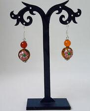 Handgefertigter runder Mode-Ohrschmuck aus Glas