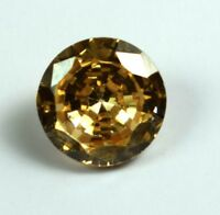 Champagne Zircon Loose Gemstone 4.95 Carat Round Natural Certified C109