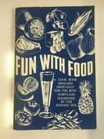 Vintage Recipe Book Fun With Food By Defunct Evening Sun Newspaper Baltimore