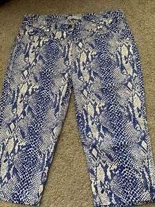 Ladies 3/4 Golf Trousers GREEN LAMB Size 12 Worn Once