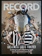 2011 Grand Final record Collingwood vs Geelong Unmarked