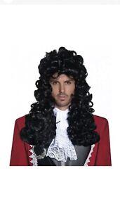 Captain Hook Wig Adult Mens Pirate Costume Halloween Fancy Dress