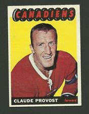 Claude Provost Montreal Canadiens 1965-66 Topps Hockey Card #8 VG