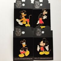 Real Mickey Series Mickey Mouse Goofy Pluto Donald Four Disney Pin 28570 - 28573