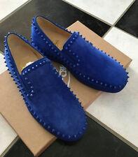 NIB 100% AUTH Christian Louboutin Pik Boat Flat Shoes Electic Blue Sz 39 $945