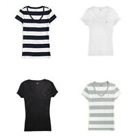 New Tommy Hilfiger Womens Cotton V Neck T Shirt