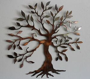 """Olive Tree of Life - Metal Wall Art - Copper 14"""""""