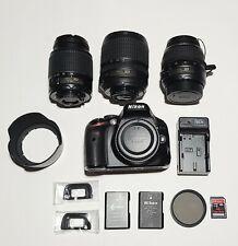 Nikon D5100 DSLR 16.2 MP Camera 18-105 VR DX 55-200 DX 18-55 DX + EXTRAS *READ*