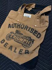 Johnson Motors Inc Canvas Bag Limited Ed Triumph Authorised Dealer