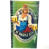 "St. Pauli Girl Beer 1983 German Pinup Girl Vintage Advertising Poster 22x37"" Vtg"