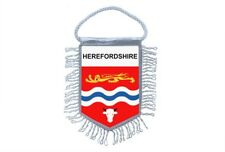 fanion mini drapeau voiture decoration souvenir blason anglais herefordshire