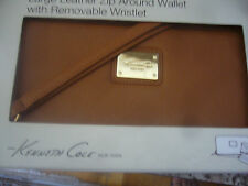 NEW LEATHER ZIP ARROUND KENNETH COLE WALLET