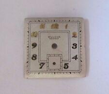 VINTAGE MEN'S BULOVA SQUARE WRIST WATCH DIAL FACE  23.6 mm