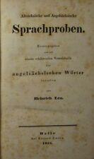 ALTENGLISCHE SPRACHPROBEN mit WÖRTERBUCH / HEINRICH LEO 1838, ANGLISTIK / SELTEN