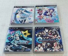 4 PS3 GAMES - AQUA PAZZA, CALCUN & PROJECT DIVA F & F2 / All in VERY HIGH GRADE!