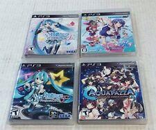4 PS3 GAMES - AQUA PAZZA, CALCUN & PROJECT DIVA F & F2 / All in VERY HIGH GRADE!