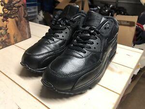 Nike Air Max 90 Gs 307793-002 - SIZE 6Y - JUNIORS AIR MAX - ALL BLACK