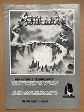 More details for metallica creeping death memorabilia original music press advert from 1984  - th